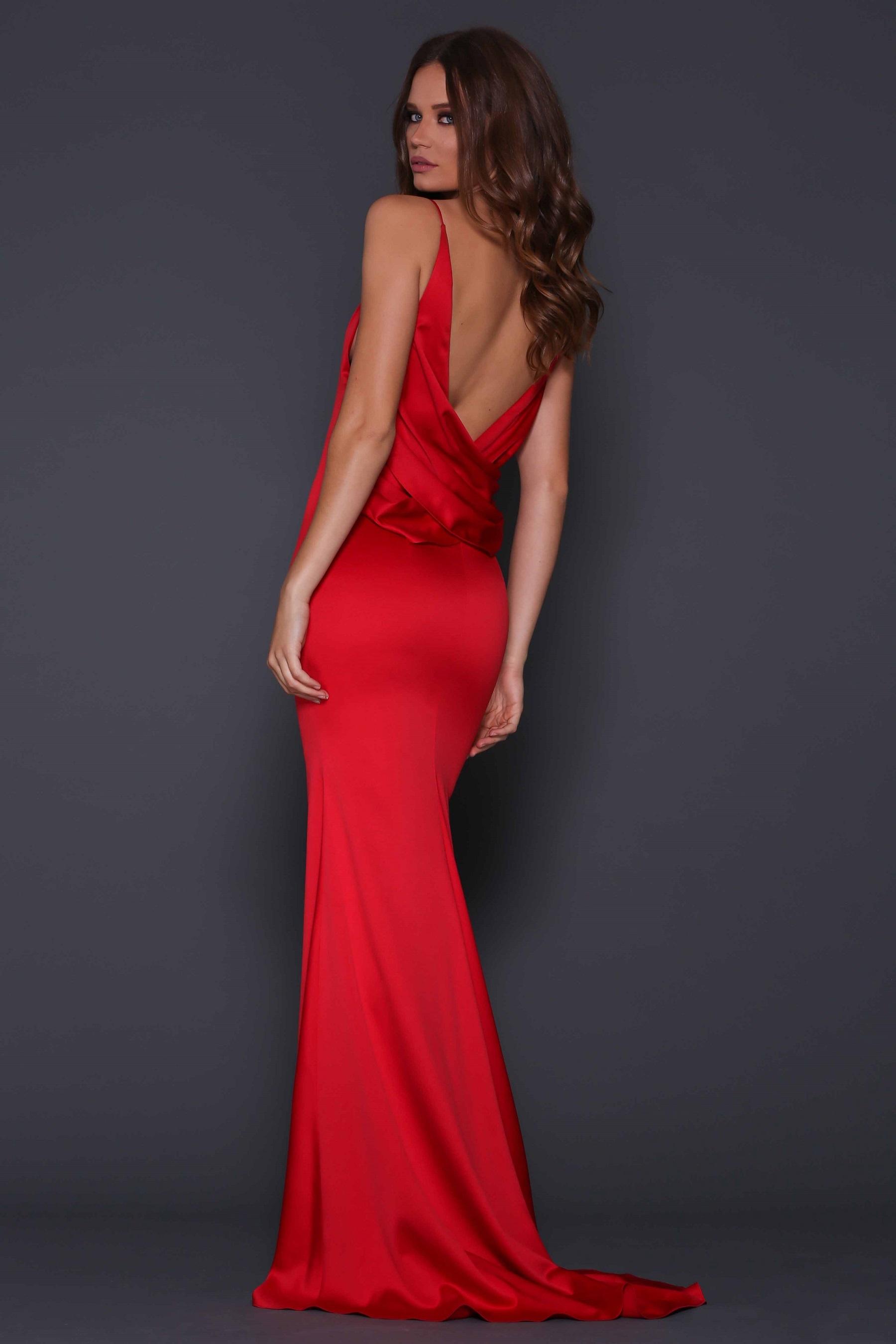Davina Red Gown Dessini Style Boutique